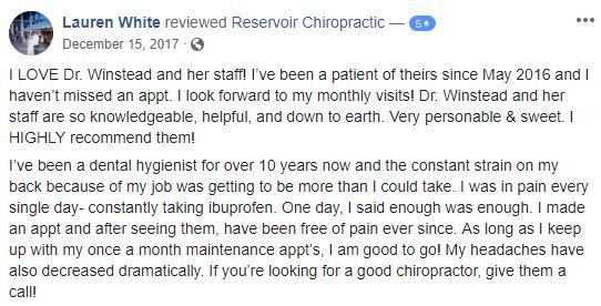 Chiropractic Brandon MS Patient Testimonial